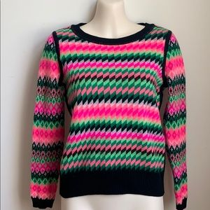 Milly Reversible Wool Kuji  Sweater NWOT Small